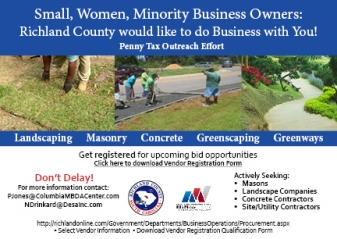 SMALL, WOMEN AND MINORITY-OWNED BUSINESSES SOUGHT TO PROVIDE